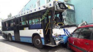 ДТП с участием двух автобусов произошло в Алматы, есть пострадавшие