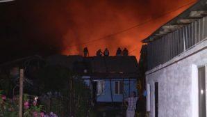 Крупный пожар в Алматинской области: горят жилые дома