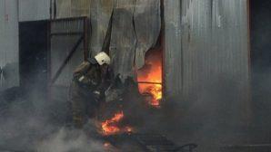 20 мая удалось ликвидировать крупный пожар на складе шин в Талдыкоргане