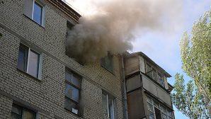 Рано утром  в центре Алматы горела пятиэтажка
