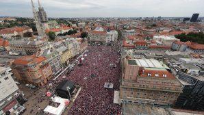 Сборную Хорватии в Загребе встречали, как героев