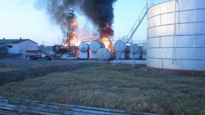 Актобе: взрыв на нефтебазе, есть пострадавшие