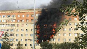 Актобе: в многоэтажке горело 40 квартир