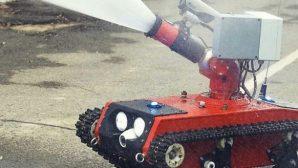 В России показали робота-пожарного для работы в экстремальных условиях