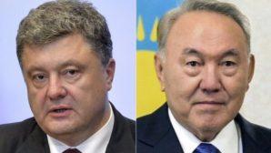 Назарбаев и Порошенко договорились поддерживать регулярные контакты